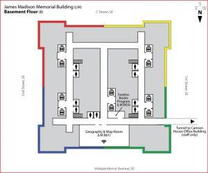 Map basement floor Madison